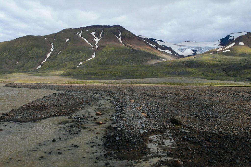 Im Hochland vom Island auf dem Weg zu den Kverkfjöll