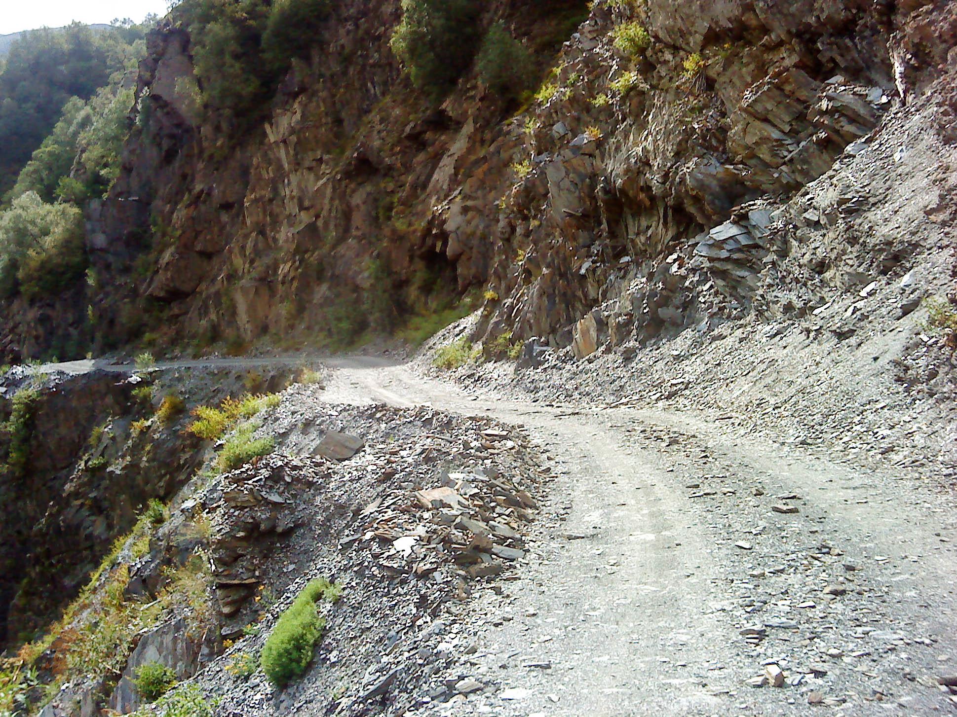 Straße von Mestia nach Ushguli