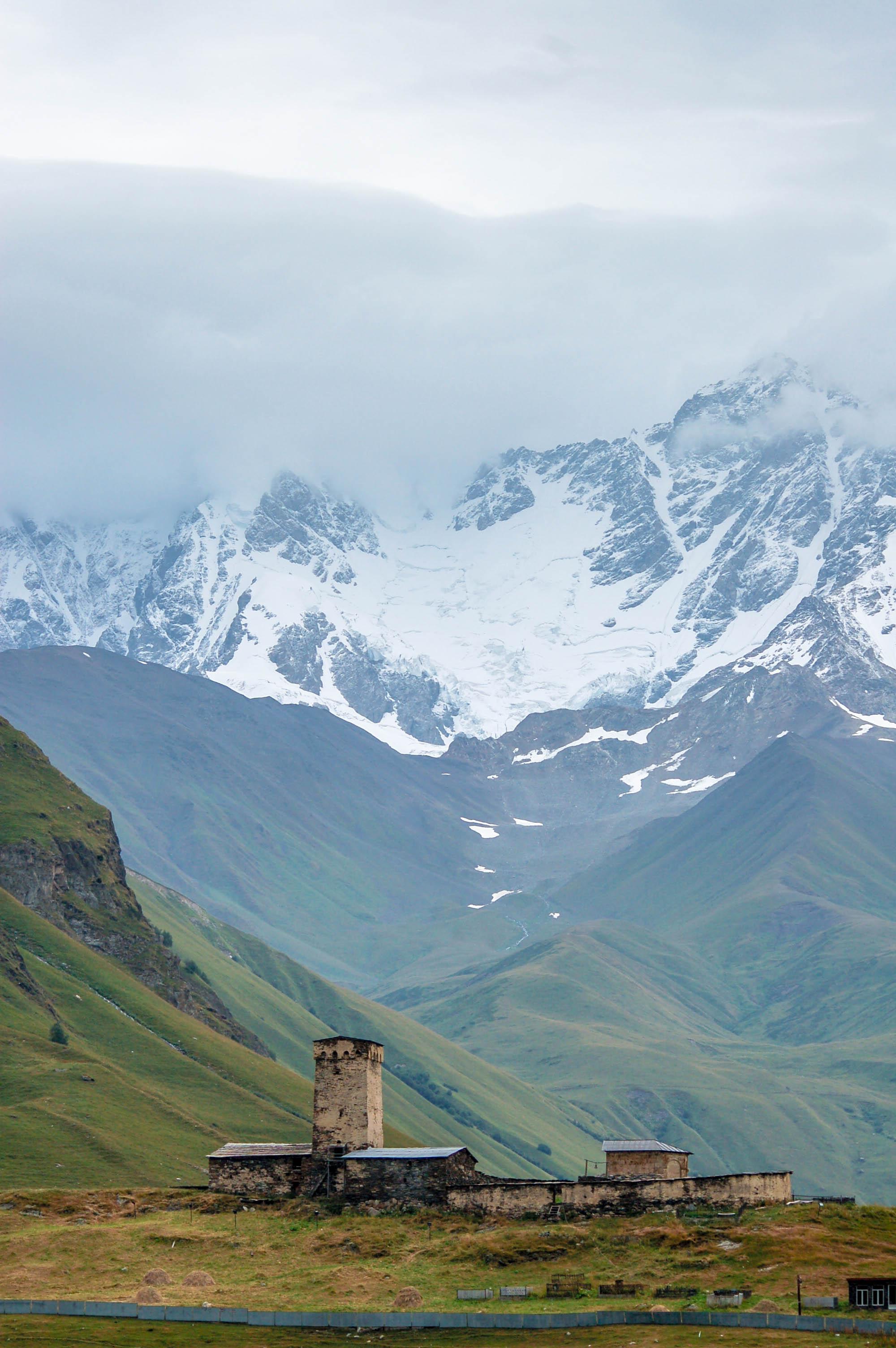 In den Bergen bei Ushguli