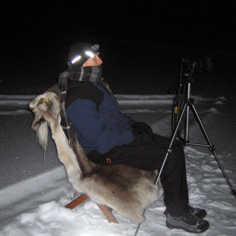 Polarlichtfotografie bei Kiruna
