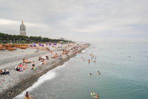 Georgiens Küste am Schwarzen Meer
