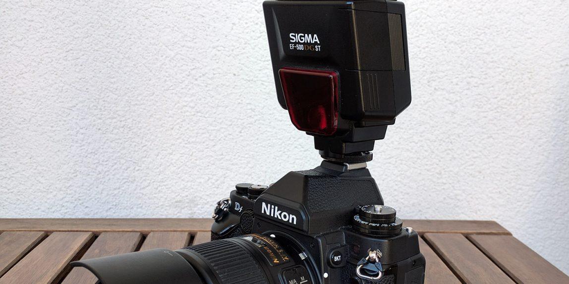 Sigma EF-500 DG ST an Nikon Df